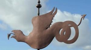 Exeter's historic wyvern weathervane
